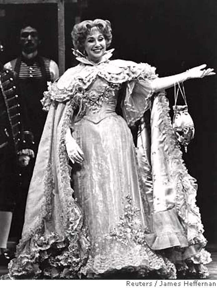 "Opera singer Beverly Sills is pictured as Norina in Donizetti's ""Don Pasquale"" at the Metropolitan Opera in New York in this 1978 publicity photograph. Sills, the world-renowned soprano who became the most popular opera singer in America in modern times, died on July 2, 2007 in New York from inoperable lung cancer, her manager said. She was 78. B/W ONLY REUTERS/James Heffernan/Metropolitan Opera/Handout (UNITED STATES) MANDATORY CREDIT. EDITORIAL USE ONLY. NOT FOR SALE FOR MARKETING OR ADVERTISING CAMPAIGNS. NO ARCHIVES. NO SALES. EUO NARCH NOSALES Photo: HO"