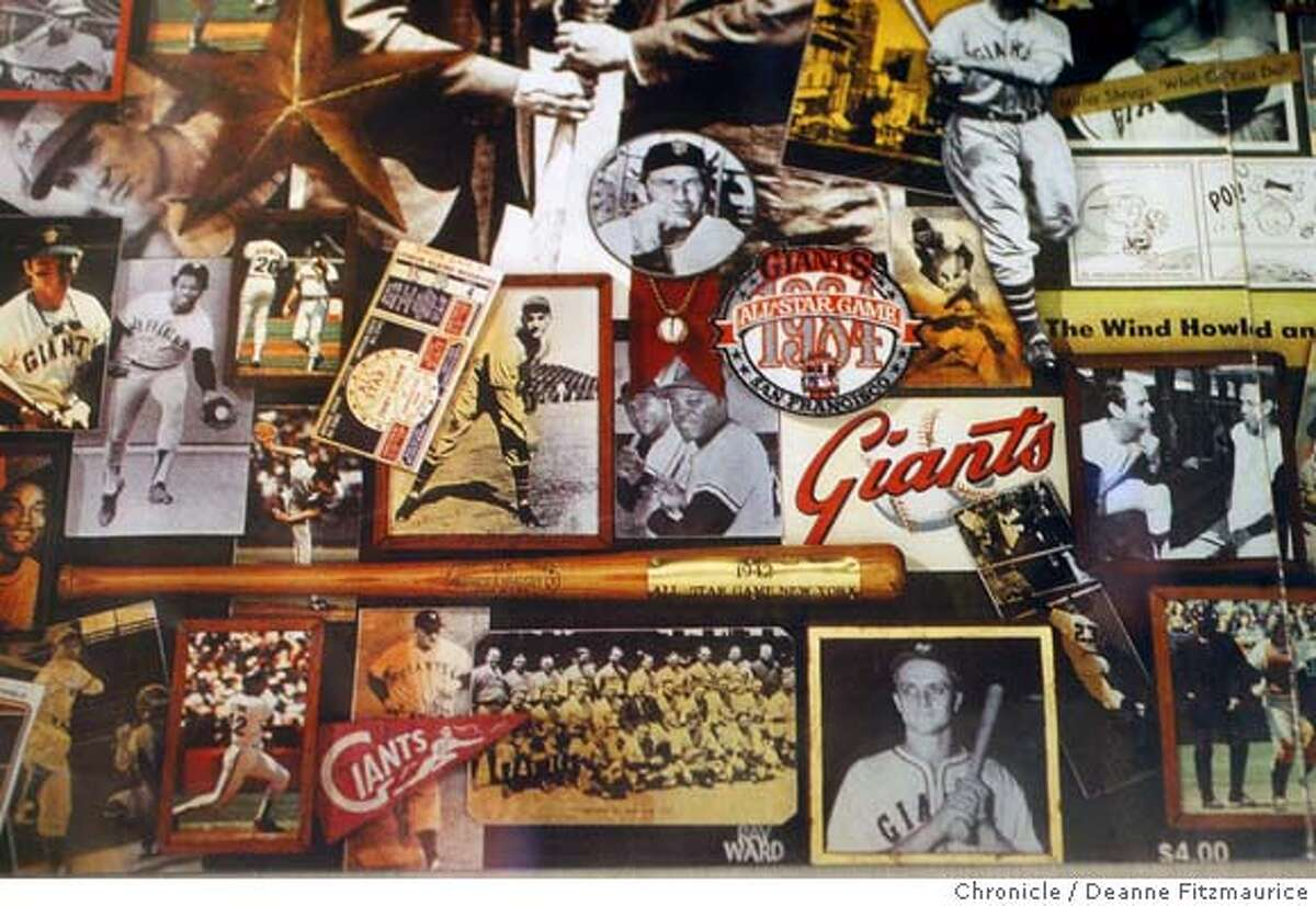 allstar_002_df.jpg All-star baseball memorabilia is on display at AT&T Park in anticipation of this year's all-star game being held in San Francisco. Deanne Fitzmaurice / The Chronicle Mandatory credit for photographer and San Francisco Chronicle. No Sales/Magazines out.