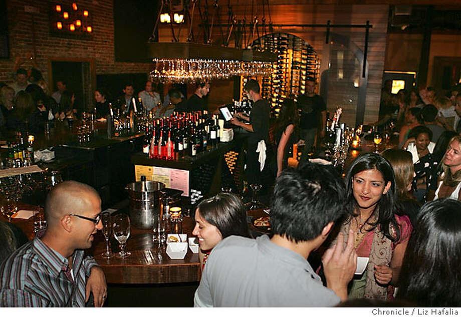 BARBITES05_LH_PH002.jpg The District is a popular wine bar meets sports bar near the ballpark.  Photographed by Liz Hafalia/The Chronicle/San Francisco/6/22/07  ** cq Photo: Liz Hafalia