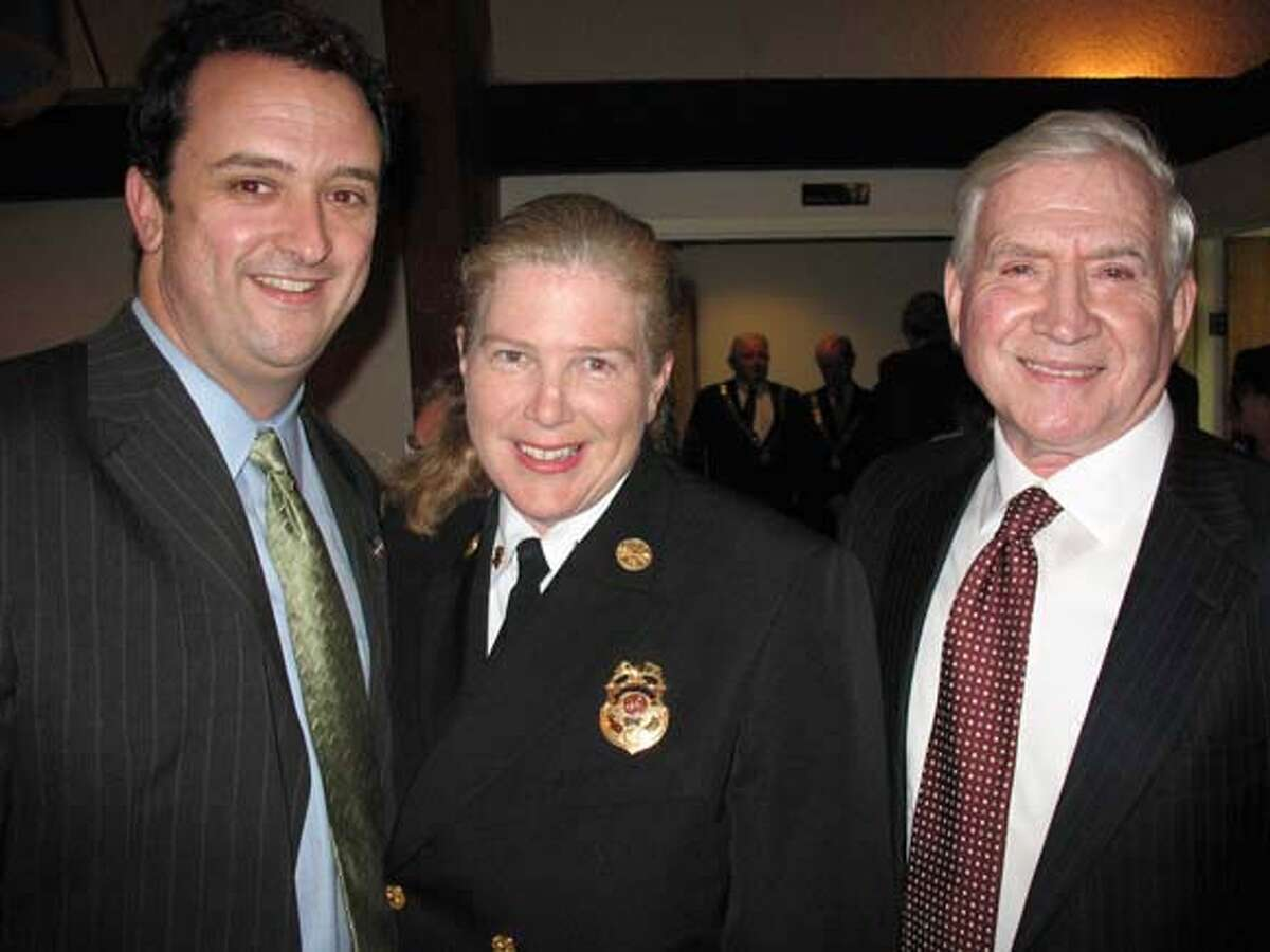 Mayor Gavin Newsom hosted the Michael Ahern, Lord Mayor of Cork, at a San Francisco-Cork Sister City Committee Dinner on April 20. From left: Supervisor Sean Elsbernd (left), Fire Chief Joanne Hayes-White and S.F.- Cork Sister City Committee member Diarmuid Philpott. Ran on: 04-29-2007 ALSO Ran on: 05-24-2007 Ran on: 05-24-2007 Ran on: 06-14-2007 Ran on: 06-14-2007 Ran on: 06-18-2007 Ran on: 06-18-2007
