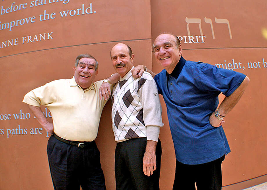 """The original Catskills comedians Freddie Roman, Mal Z. Lawrence and Dick Capri perform in """"Catskills on Broadway,"""" running through July 15 at Kanbar Hall at the Jewish Community Center of San Francisco. Photo: Michael P. Smith"""