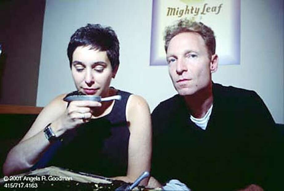 For NBLEAF10, NB Friday ; Jill Portman and husband Gary Shinner, co-founders of Mighty Leaf Tea ; Photo credit: Angela R. Goodman ; on 10/2/03 in . / HO