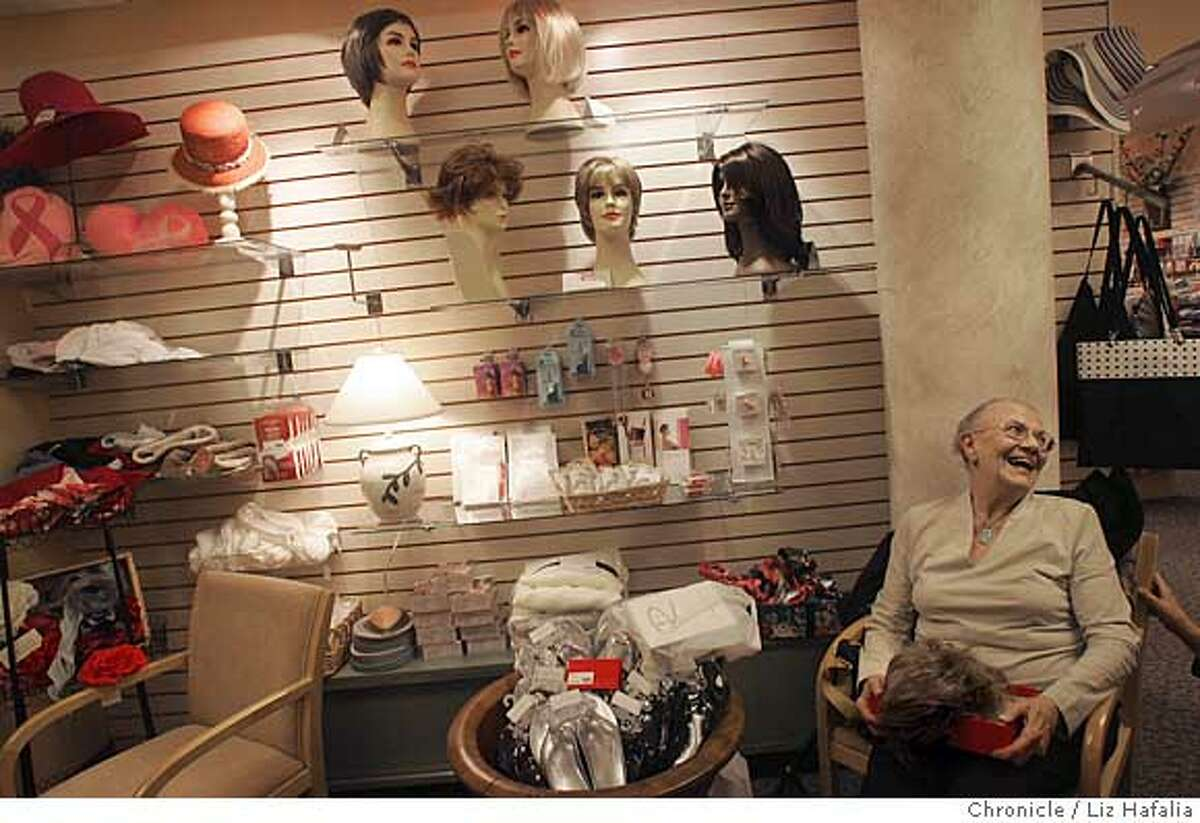 WIGMASTER_LH_035.JPG Olga Donato (seated, right), from San Francisco, waits for Gerd Mairandres, the wigmaster at San Francisco opera, who donates his time once a month to a breast cancer shop at UCSF Mount Zion. Photographed by Liz Hafalia/The Chronicle/San Francisco/6/27/07 **Gerd Mairandres, Olga Donato cq Ran on: 07-01-2007 Gerd Mairandres, the wig master for the San Francisco Opera, helps Sonja Olsen, a cancer patient from Larkspur, craft a head of hair to her liking. Ran on: 07-01-2007 Gerd Mairandres, the wig master for the San Francisco Opera, helps Sonja Olsen, a cancer patient from Larkspur, craft a head of hair to her liking. Ran on: 07-01-2007 Gerd Mairandres, the wig master for the San Francisco Opera, helps Sonja Olsen, a cancer patient from Larkspur, craft a head of hair to her liking.
