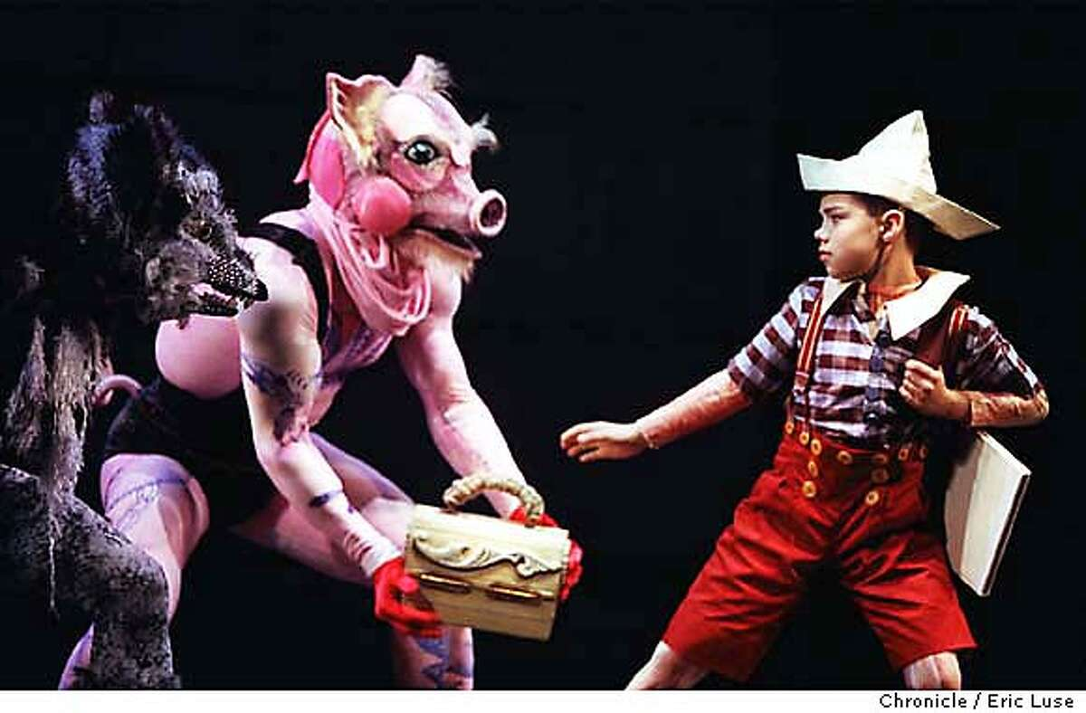 SMUIN14A/C/12MAY99/DD/EL The Fox (Ryan Billia) and The Pig ( Joral Schmalle) steal Pinocchio's (Roberto Cisneros) lunch box and school books. Smuin Ballet Pinocchio at the Yerba Buena Center For the Arts. BY ERIC LUSE/THE CHRONICLE