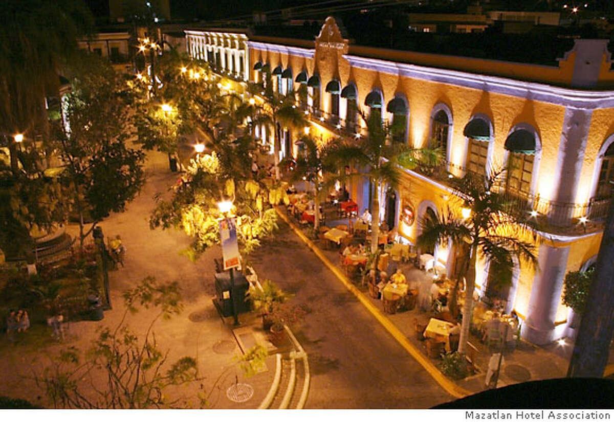 TRAVEL MAZATLAN -- Pedro y Lola restaurant occupies the historic Juarez building on Plazuela Machado, kitty-corner from the Angela Peralta Theater. Credit: Mazatlan Hotel Association