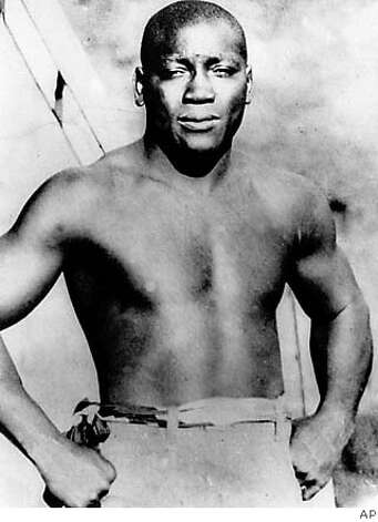 Jack Johnson was publicly scorned, even hated, by virtue of his status as the first African American heavyweight boxing champion. Associated Press photo