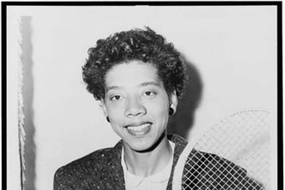 Althea Gibson, became the first black person to win a singles title at Wimbledon in 1957. This file has been (or is hereby) released into the public domain by its author, New York World-Telegram and the Sun. This applies worldwide.