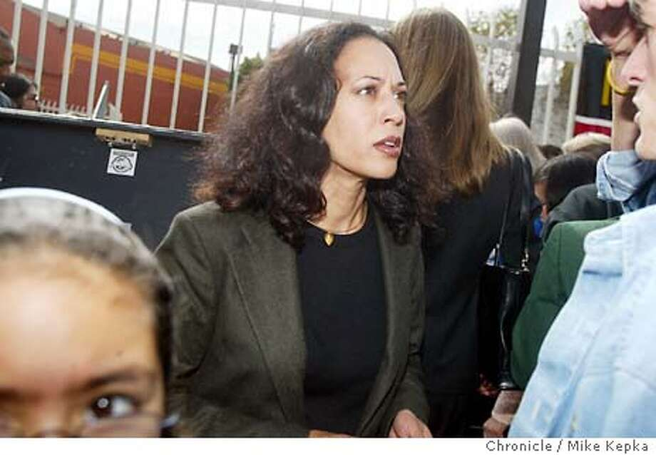 harris0030_mk.jpg  Kamala meets with supporters in front of the 24th street BART station while on the campain trail with Cruz Bustamonte. is running for District Attorney in San Francisco.  10/4/03 in San Francisco MIKE KEPKA/The San Francisco Chronicle Photo: MIKE KEPKA