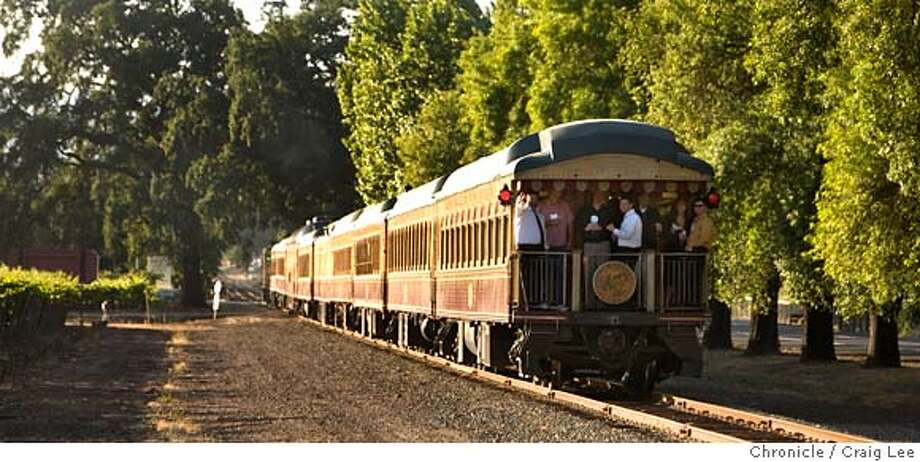 WINETRAIN29_024_cl.JPG  Story on the Napa Valley Wine Train. People riding on the caboose.  Event on 6/8/07 in Napa. Photo: Photo By Craig Lee
