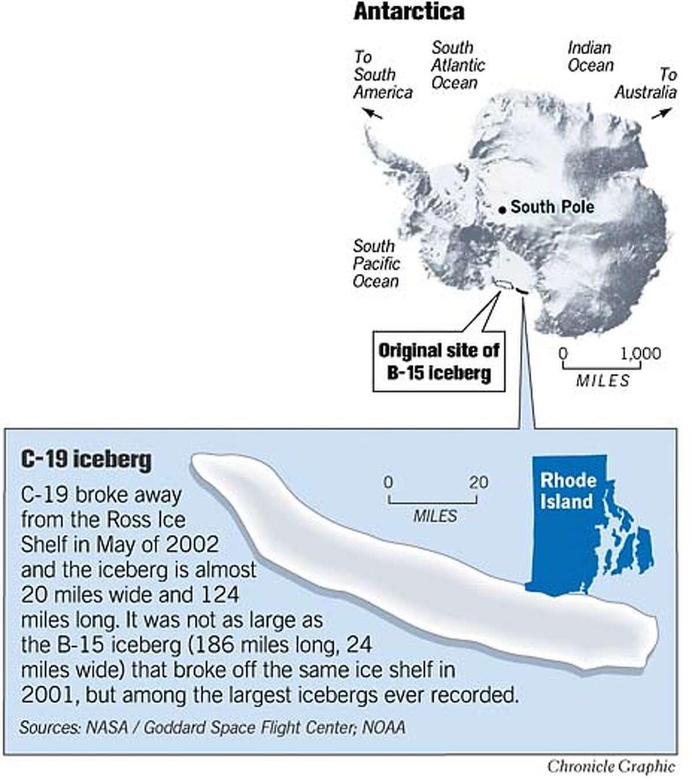 Antarctic Ice. Chronicle Graphic