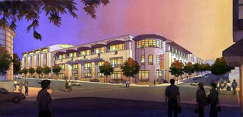 For STRICTLY05, Real Estate, burnett ; Architect's rendering of new Jewish Community Center ; no further caption info, for questions contact Bill Burnett in Real Estate; on 10/1/03 in . / HO