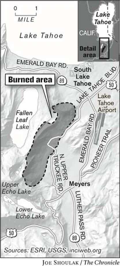 Burned Area. Chronicle graphic by Joe Shoulak