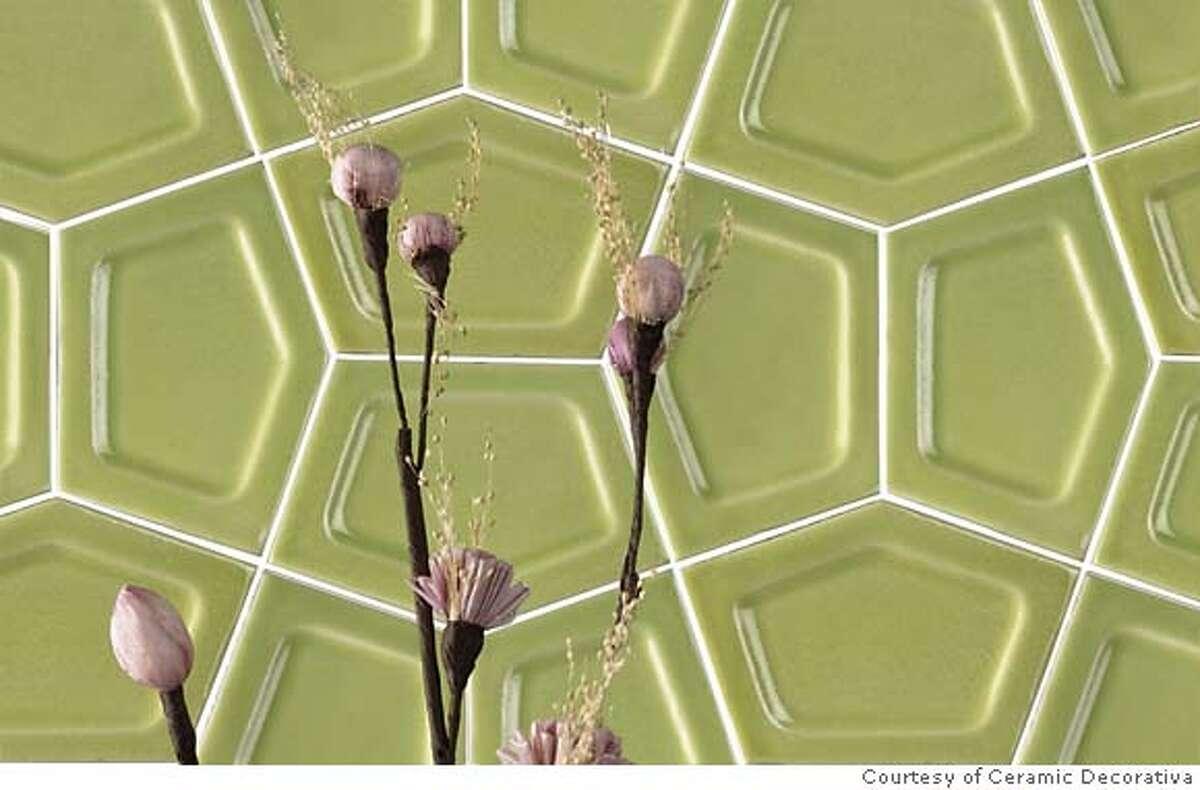 Aichi tile is pentagon-shaped Photo courtesy of Ceramic Decorativa