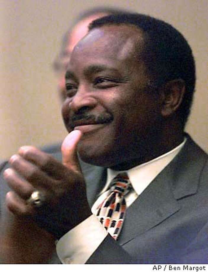 Baseball Hall of Famer Joe Morgan smiles during a preliminary hearing at City Hall on Tuesday, May 4, 1999, in Oakland, Calif. Morgan is one of a team of several local businessmen led by Andy Dolich that are trying to purchase the Oakland Athletics and keep the team in Oakland. (AP Photo/Ben Margot) ALSO RAN: 05/11/1999, 6/21/99 CAT Photo: BEN MARGOT