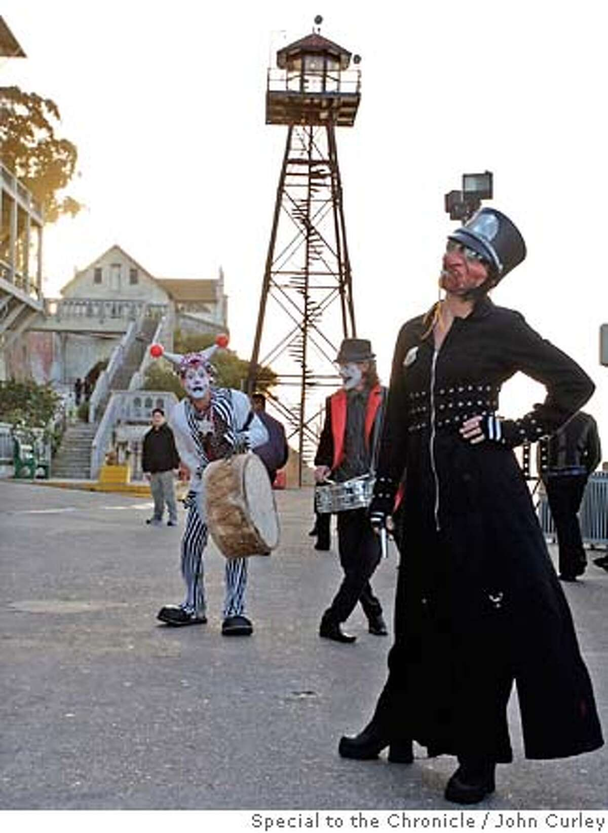 Members of the Vau de Vire Society and Gooferman troupes greeted guests to Alcatraz during