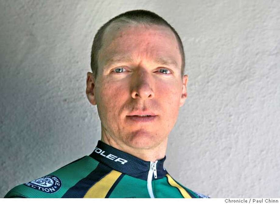 � Bicycle racer Greg Drake and his Giant TCR Advanced racing bike in Redwood City, Calif. on Wednesday, May 23, 2007. PAUL CHINN/The Chronicle **Greg Drake MANDATORY CREDIT FOR PHOTOGRAPHER AND S.F. CHRONICLE/NO SALES - MAGS OUT Photo: PAUL CHINN