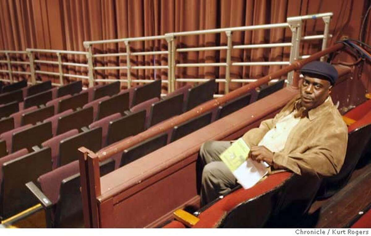 Artistic director Stanley Williams sits in the theater. The owners of the building that houses the Lorraine Hansberry Theater wants to kick the theater out. The theater is the city's only African American theater company. FRIDAY, JUNE 22, 2007 KURT ROGERS SAN FRANCISCO SFC THE CHRONICLE HANSBERRY_0067_kr.jpg MANDATORY CREDIT FOR PHOTOG AND SF CHRONICLE / NO SALES-MAGS OUT