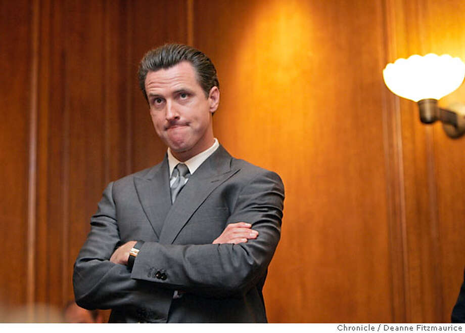 Mayor Gavin Newsom participates in a press conference about solar power in San Francisco and is asked about Supervisor Chris Daly's suggestion that the mayor used cocaine. Photographed in San Francisco on 6/20/07. Deanne Fitzmaurice / The Chronicle Photo: Deanne Fitzmaurice