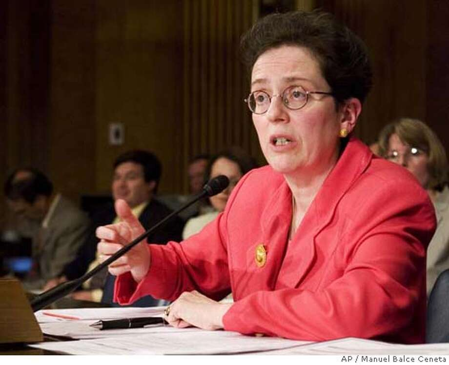 Assistant Secretary of State Maura Harty, testifies on Capitol Hill in Washington, Tuesday, June 19, 2007, before the Senate Foreign Relations hearing to examine the passport backlog, and the State Department's response to the Western Hemisphere Travel Initiative. (AP Photo/Manuel Balce Ceneta) Photo: Manuel Balce Ceneta