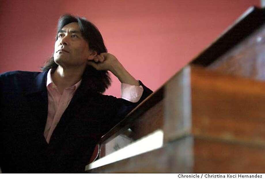 {091203_nagano_kocihernandez}  Kent Nagano celebrates 25 years with the Berkeley Symphony, shot at a friend's house in Berkeley. Shot on9/12/03 in Berkeley.  CHRISTINA KOCI HERNANDEZ / The Chronicle Photo: CHRISTINA KOCI HERNANDEZ