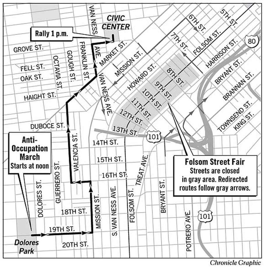 San Francisco Street Closures. Chronicle Graphic