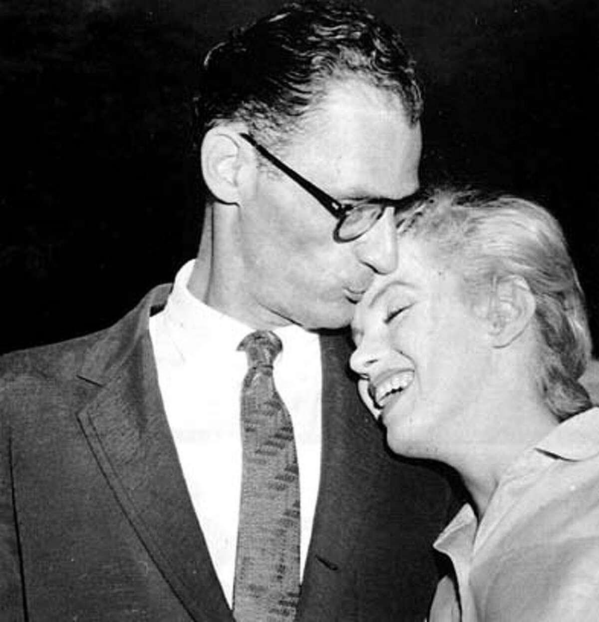 ARTHUR MILLER AND MARILYN MONROE, 1956
