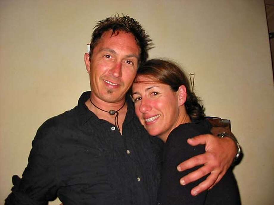 Michael Keenan, the man who was burned in the fire on Bonita. The woman in the photo is an old friend, Stacie Krajchir. Please note, this is one of his close friends, but not his girlfriend. HANDOUT PHOTO Photo: Handout