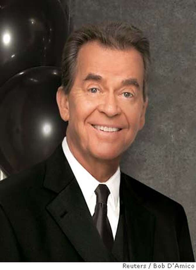 Veteran television personality Dick Clark is shown in this undated publicity photograph released December 5, 2005. Clark will host the New Year's eve telecast of 'Dick Clark's New Year's Rockin' Eve 2006 Part 1 and 2' on the ABC television network with co-host Ryan Seacrest. Clark suffered a stroke in December 2004 and was unable to host the New Year's show in 2005 and has not made any public appearances since the stroke. NO ARCHIVES REUTERS/Bob D'Amico/Handout Ran on: 12-26-2005  Dick Clark 0 Photo: HO