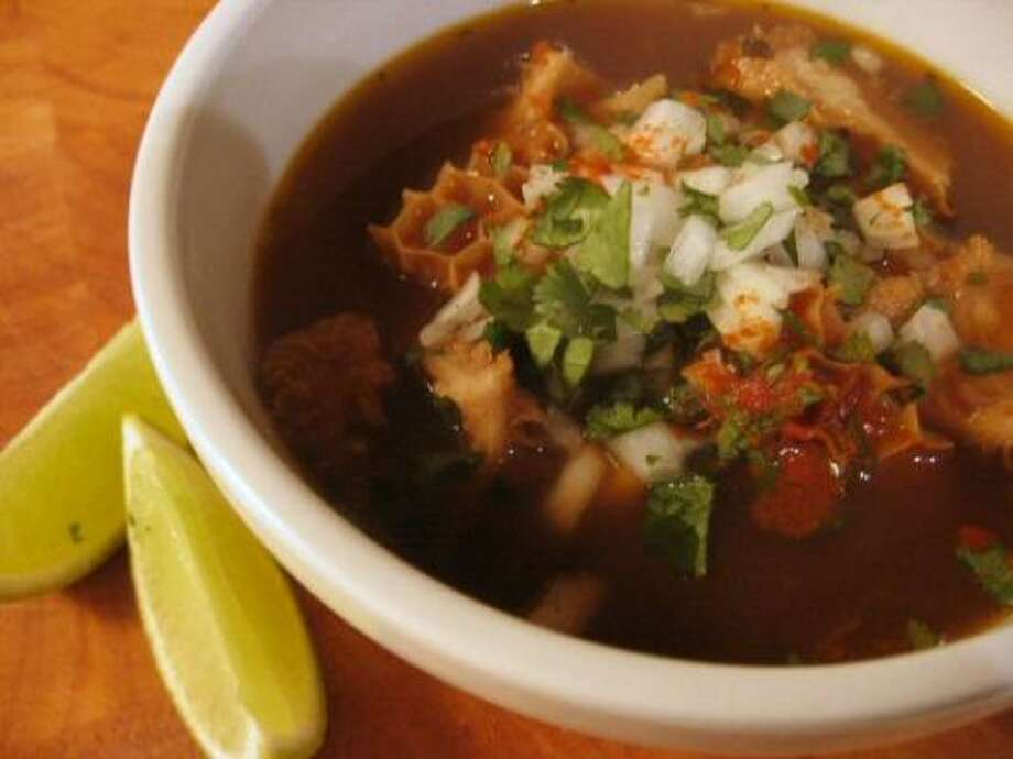 Mexico: Menudo. This beef stomach, beef feet and chili soup does away with tummy aches. Photo: Scaredy Kat, Flickr Creative Commons