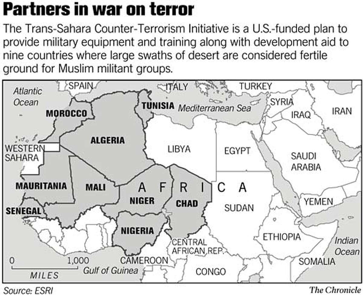 Partners in war on terror. Chronicle Graphic