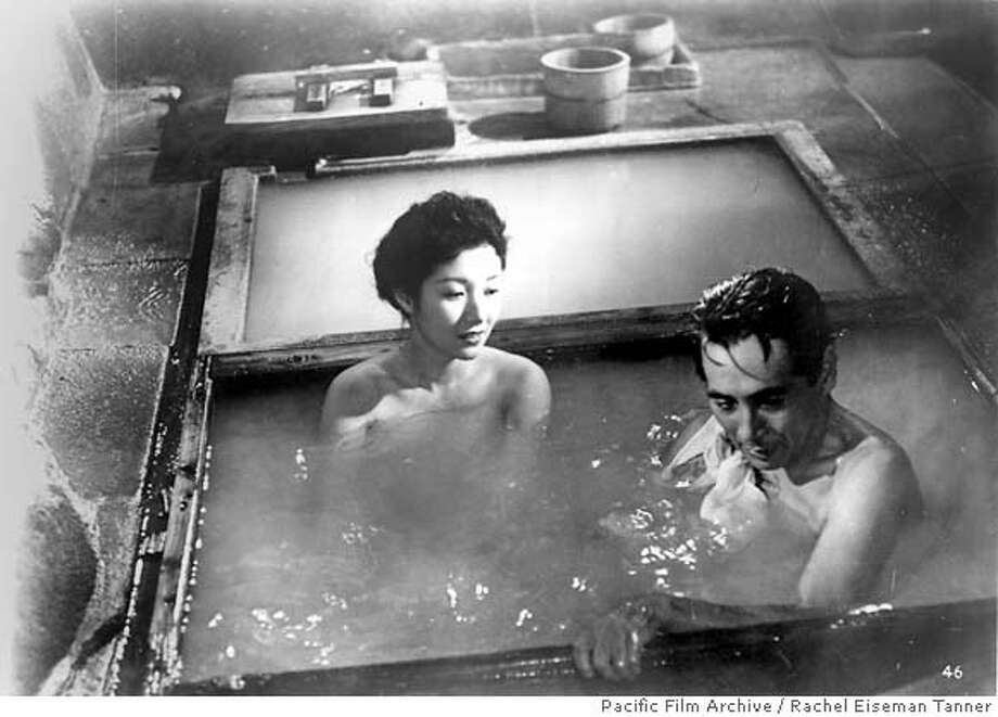 """Still from the movie, """"Floating Clouds"""" image shows from (L-R) Hideko Takamine and Masayuki Mori. Credit: Courtesy of Rachel Eiseman Tanner/University of California, Berkeley Art Museum and Pacific Film Archive Photo: Credit: Courtesy Of Rachel Eisem"""