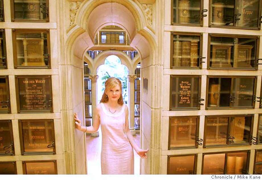 CHAPEL_021_MBK.JPG  Sarah Cahill, pianist and founder of the annual Garden of Memory summer solstice concert, poses at the Chapel of the Chimes in Oakland, CA, on Friday, June, 15, 2007. photo taken: 6/15/07  Mike Kane / The Chronicle *Sarah Cahill MANDATORY CREDIT FOR PHOTOG AND SF CHRONICLE/NO SALES-MAGS OUT Photo: MIKE KANE