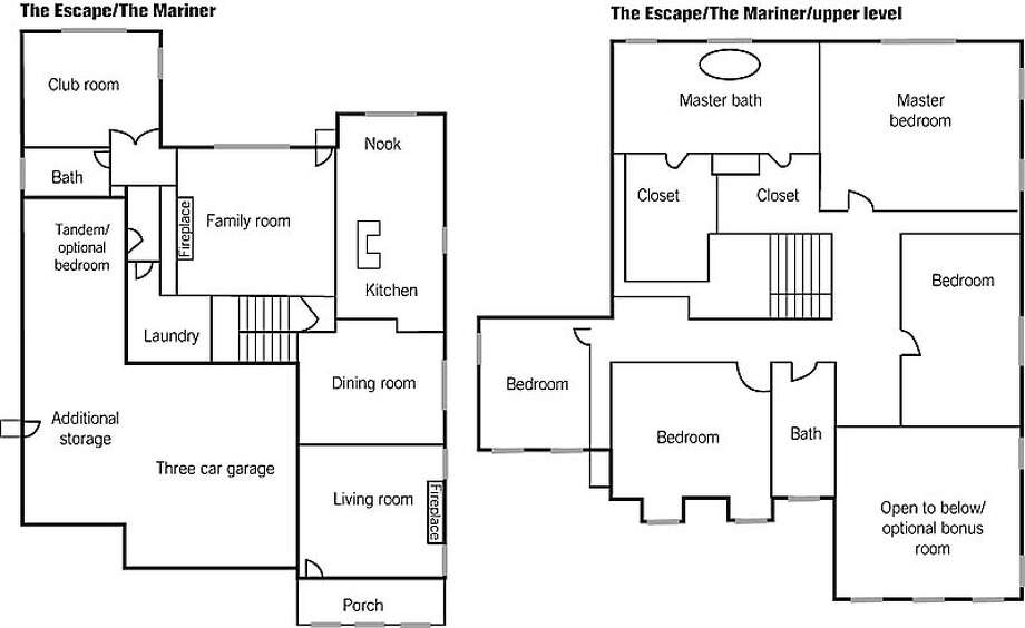 A smorgasbord of floor plans / Book balcony, wet bar, club room ...