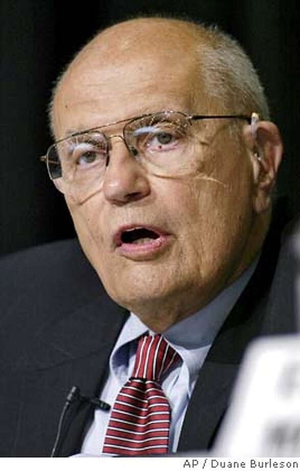 Representative John Dingell, D-Mich., responds to a question during his debate with Rep. Lynn Rivers, D-Mich., in Dearborn, Mich., Saturday, July 27, 2002. The two lawmakers are seeking the Democratic nomination to run for Michigan's 15th District Congressional seat. Dingell and Rivers are forced to face each other in the Aug. 6 primary under a redistricting map drawn by a Republican Legislature. (AP Photo/Duane Burleson) also ran 09/26/03 cat  Ran on: 10-28-2004  Rep. John Dingell said the proposal would protect utility profits while hurting conservation efforts. ALSO Ran on: 10-29-2006  Rep. Charles Rangel, D-N.Y.  Ran on: 10-29-2006  Rep. Charles Rangel, D-N.Y. Nation#MainNews#Chronicle#10/28/2004#ALL#5star##421801627 Photo: DUANE BURLESON