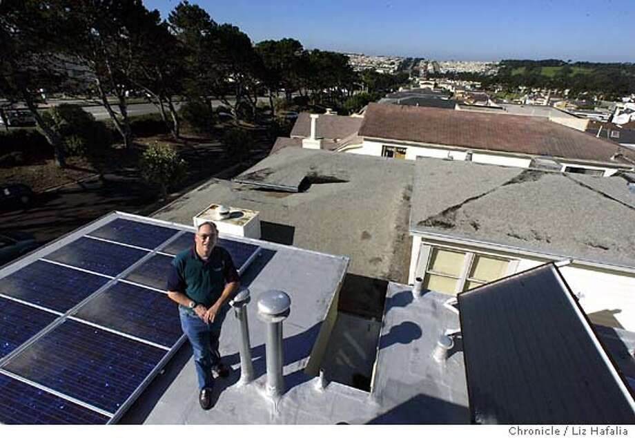 The solar thermal system in Aaron Straus' home. Shot on 9/17/03 in Daly City. LIZ HAFALIA / The Chronicle Photo: LIZ HAFALIA