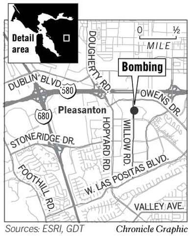 Bomb hits Pleasanton's Shaklee / Police unsure whether