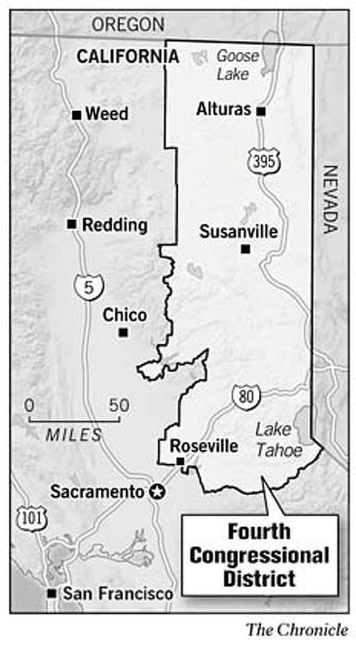 Fourth Congressional District. Chronicle Graphic