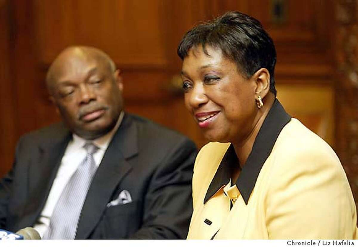 Arlene Ackerman meeting with Willie Brown. Shot on 9/25/03 in San Francisco. LIZ HAFALIA / The Chronicle