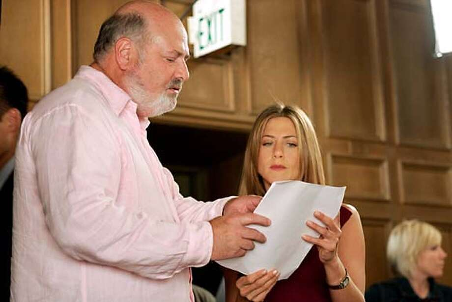 "Rob Reiner and Jennifer Aniston on the set of ""Rumor Has It"" Photo: Ho"