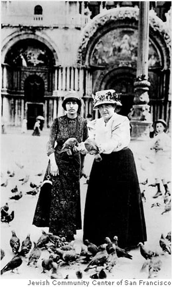 Gertrude and Alice: 100 years, 100 Roses at the JCCSF Gertrude Stein and Alice B. Toklas Ran on: 06-17-2007 Ran on: 06-17-2007  The relationship of Alice B. Toklas and Gertrude Stein, shown here in Venice in 1908, is the subject of &quo;Gertrude and Alice: 100 Years, 100 Roses&quo; at several San Francisco venues.  Ran on: 06-17-2007  The relationship of Alice B. Toklas and Gertrude Stein, shown here in Venice in 1908, is the subject of &quo;Gertrude and Alice: 100 Years, 100 Roses&quo; at several San Francisco venues. Photo: JCCSF