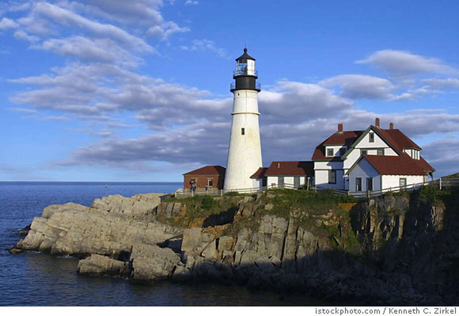TRAVEL MAINE -- Portland Head Light in Maine at sunset. istockphoto.com Photo: Kenneth C. Zirkel