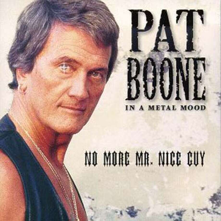 "Pat Boone's metal album is really kind of a classic. Here he croons Guns N' Roses' ""Paradise City"" Photo: Handout"