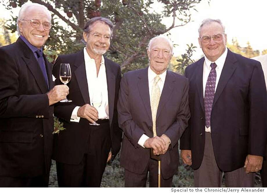 For , wine ; Photo credit: Jerry Alexander/Special to The Chronicle ; Left to Right, award winners at Copia Awards: Park B. Smith, Paul Draper, Robert Mondavi,�Joe Rochioli Jr.; on 9/22/03 in . Jerry Alexander / Special To The Chronicle Photo: Jerry Alexander