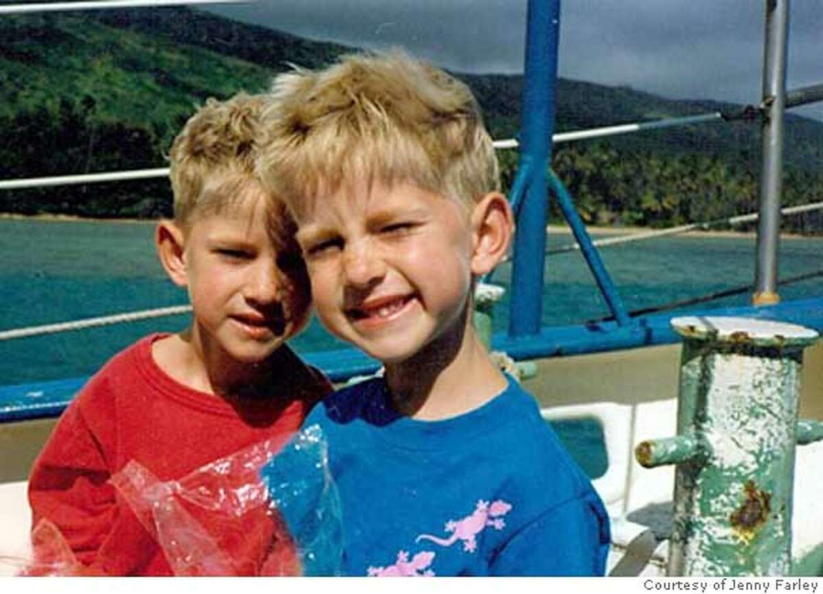 Family photo of the Farley twins as youngsters, featured in the film