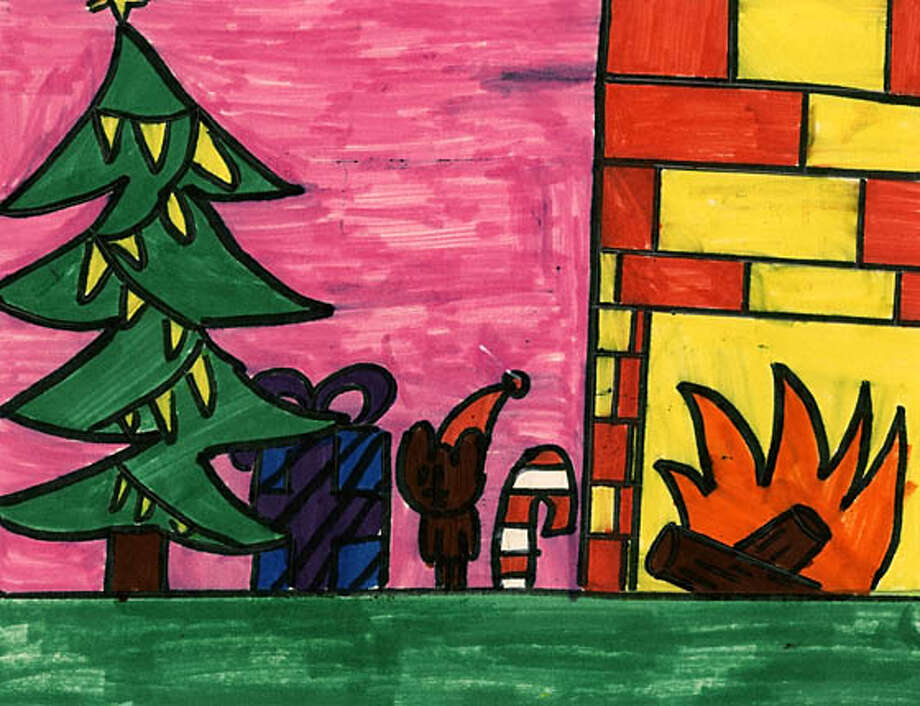 Fifth-grader Winnie Chan, 10, of Daniel Webster School in Daly City drew this warm holiday scene.