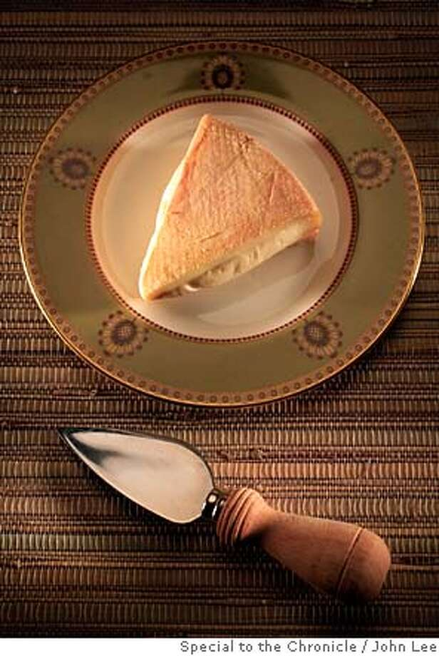CHEESE03JOHNLEE.JPG  Stinking Bishop washed in Perry, England cheese.  By JOHN LEE/SPECIAL TO THE CHRONICLE Photo: JOHN LEE