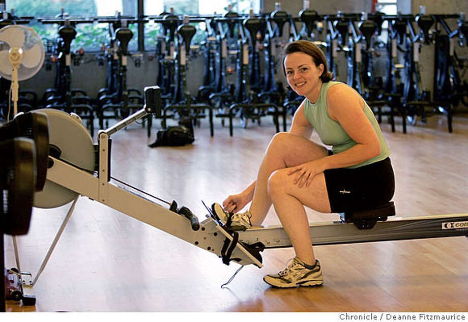 _G1X9098.JPG  Katrina Lundstedt rows at Club One at Embarcadero Center. She is one of the fastest rowers in the world.  Event in San Francisco on 1/13/06.  Deanne Fitzmaurice / The Chronicle Photo: Deanne Fitzmaurice