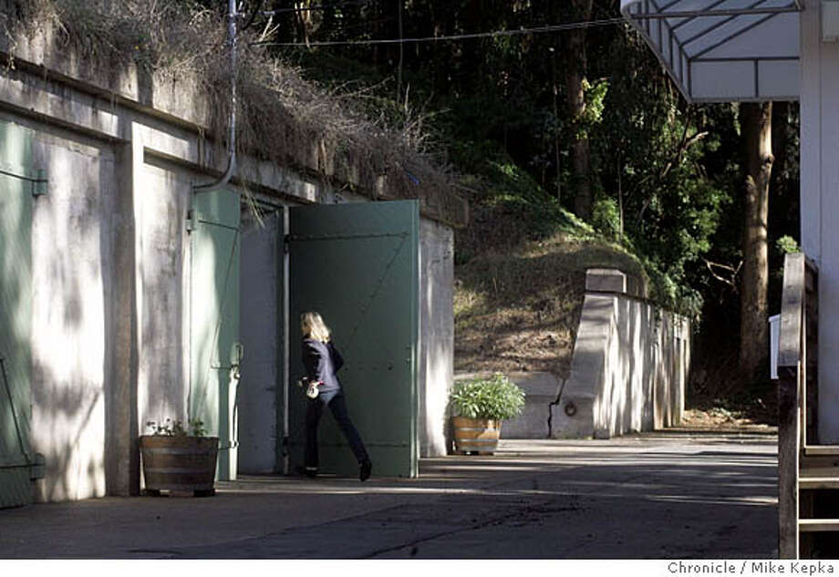The Presidio Trust has found that the weapons bunkers on the Presidio are perfect for storing wine. Wine storage units, big and small, are being rented out to private collectors and restaurants looking for a safe place to store their pressure bottles. San Francisco on date}. Mike Kepka / The Chronicle Photo: Mike Kepka