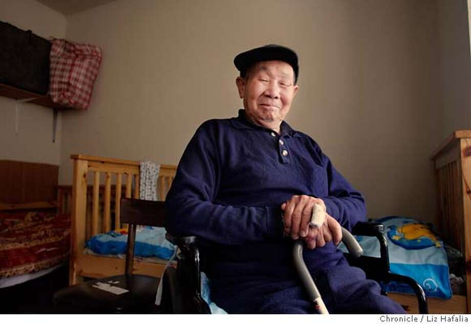 IMMIGRATION00_009_LH.JPG Li Dong Yu, a 83-year-old San Francisco resident from Taishan County in southern China has been a lawful permanent resident of the United States for eleven years, after being sponsored by his daughter, a naturalized U.S. citizen. He now has Alzheimer's. An immigration officer informed him that he met all the requirements for citizenship, but could not be sworn in until the FBI verified he wasn't a threat to national security.  Photographed by Liz Hafalia on 12/12/05 in San Francisco, California. Styled by Stacey Wickman. SFC Creditted to the San Francisco Chronicle/Liz Hafalia Photo: Liz Hafalia