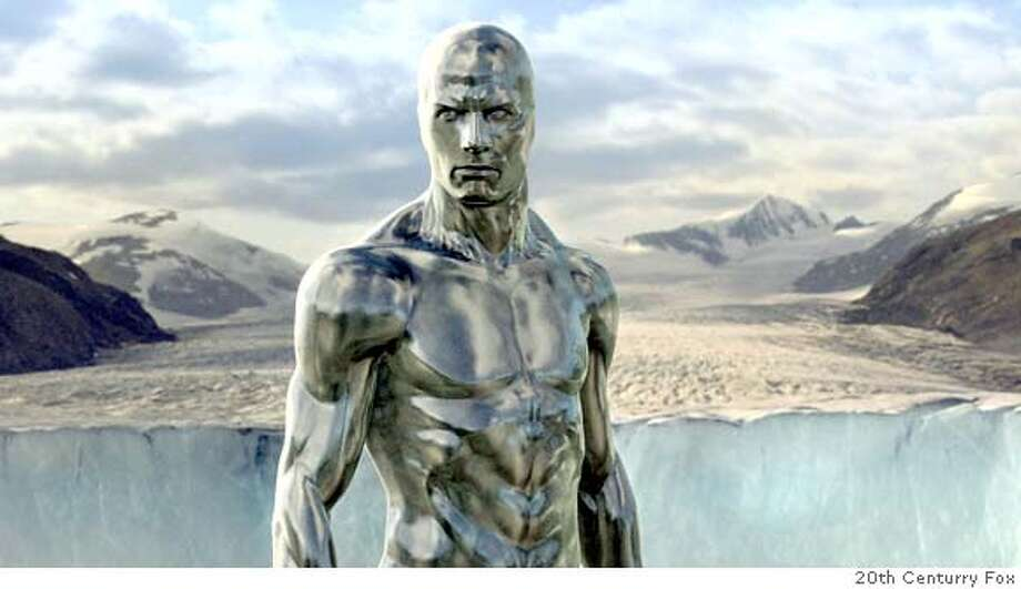 The enigmatic, intergalactic hearld, The Silver Surfer, comes to Earth to prepare it for destruction in FANTASTIC FOUR: RISE OF THE SILVER SURFER. Photo credit: WETA Photo: WETA